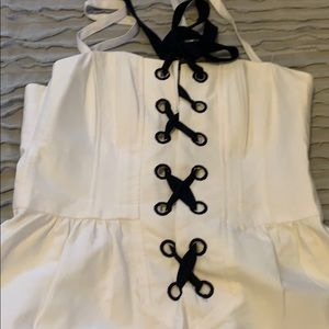 White nanette lepore dress.